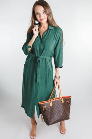 Utility Midi Dress, Green