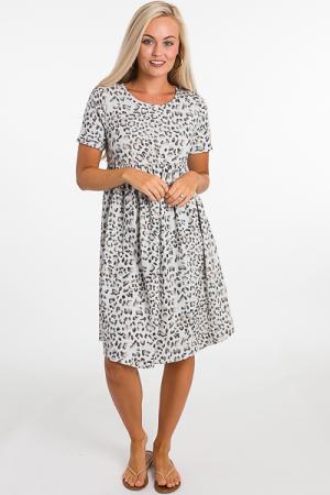 Terry Leopard Dress (THURSDAY NEW ARRIVAL)