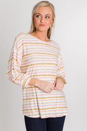 Peachy Keen Stripe Top
