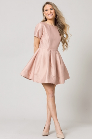 Fancy Feeling Dress, Peach