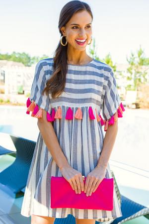 Strawberry Lemonade Tassel Dress