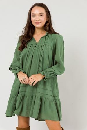 Wynona Loose Dress, Green