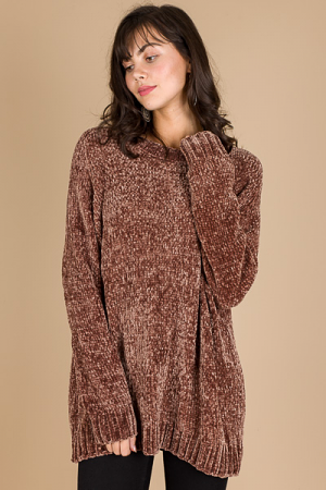 So Soft Chenille Sweater, Mocha