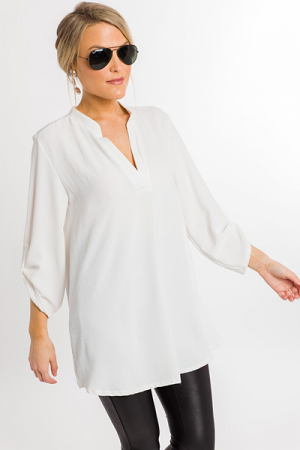 Tabby Tunic, Off White