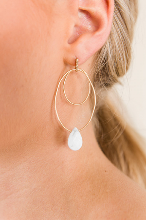 Gabi Earring, White