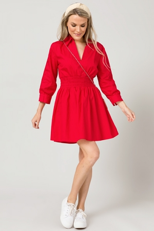 Rojo Smock Waist Dress