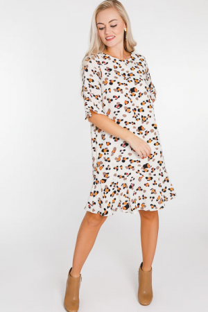 Dotty Fall Woven Dress