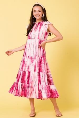 Pink Tie Dye Maxi