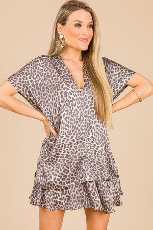 Classic Karlie Tunic, Gray Leopard