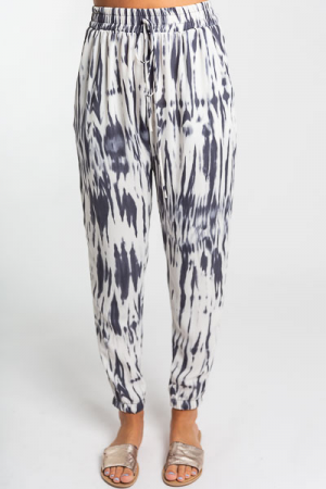 Grey Dyed Pants