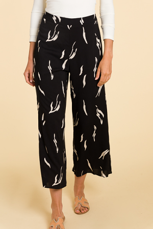 Smooth Printed Pant, Black