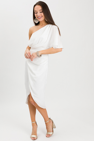 Cameron One Shoulder, White