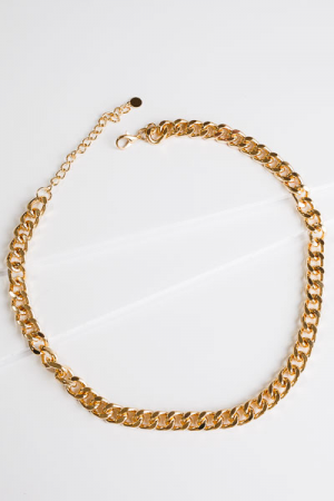 Linked in Necklace, Gold