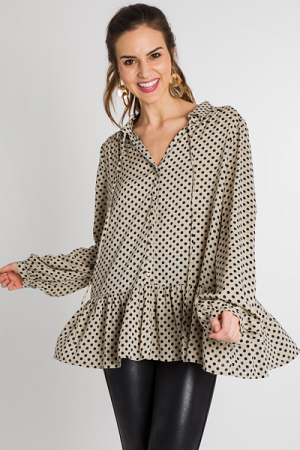 Mushroom Dotted Blouse