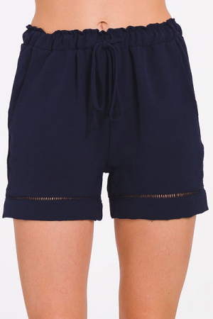 Navy Pull On Shorts