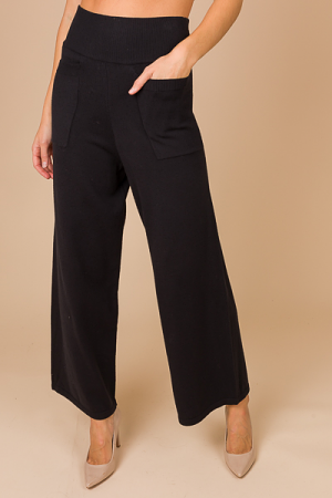 Impeccable Sweater Knit Pant, Black