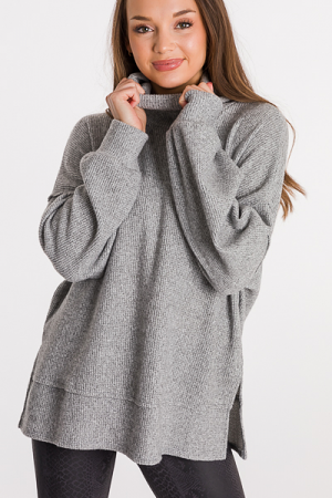 Camryn Cowl Thermal, Gray