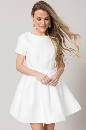 Fancy Feeling Dress, White