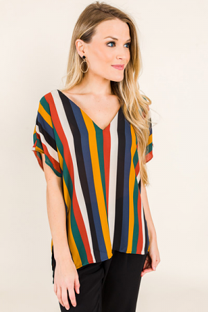 Vertigo Stripe Blouse