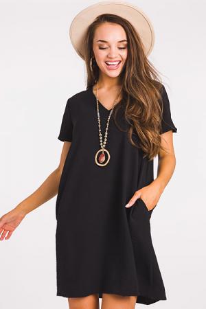 Keep it Simple Dress, Black
