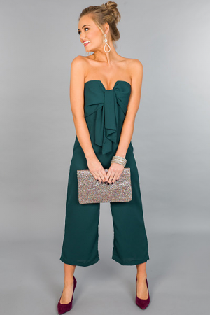 Time to Twist Jumpsuit, Teal