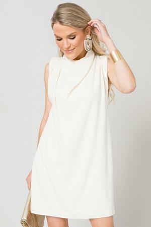 Clarisse Mock Dress, Cream