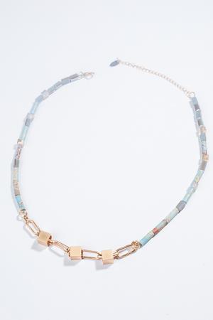 Segments Necklace, Blue