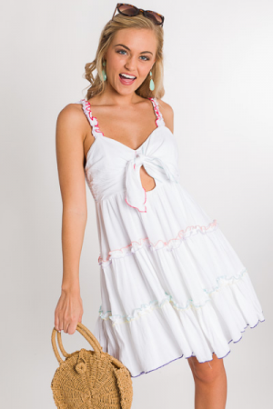 Savannah Rainbow Trim Dress