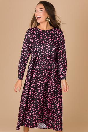 Pink Spots Maxi, Black