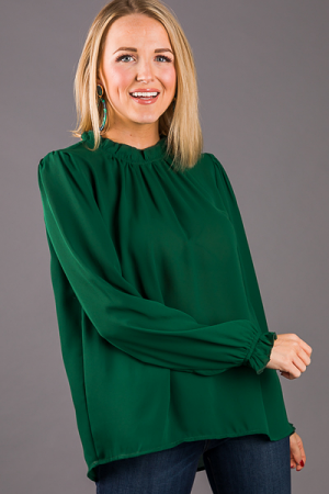 Cassie Blouse, Hunter Green