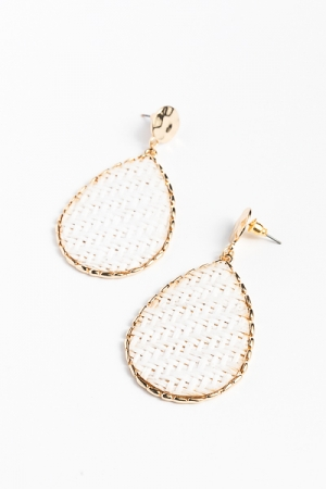 Basket Teardrops, White