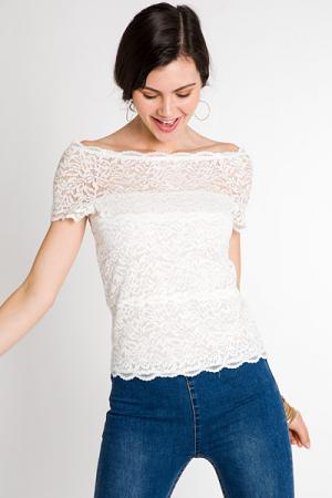 Stretch Lace Off Shoulder