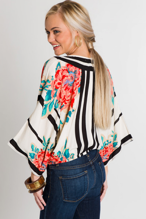 Take A Chance Wrap Top