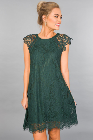 Evergreen Lace Dress