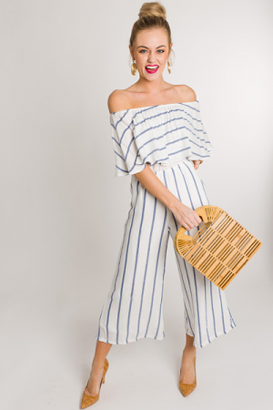 Spring Into Stripes Jumpsuit