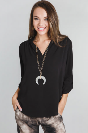 Paloma Blouse, Black