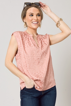 Tonal Pink Cheetah Blouse