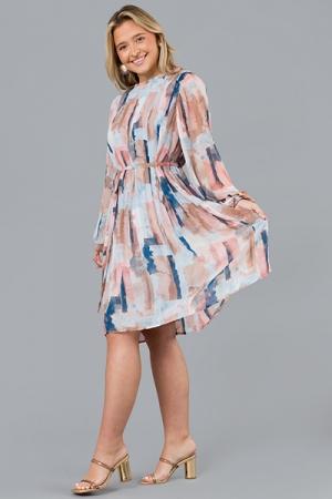 Painted Pleats Dress