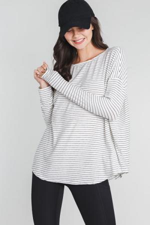 Soft as Stripes Top, White