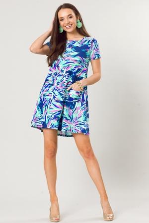 Liquid Heaven Pocket Dress, Navy