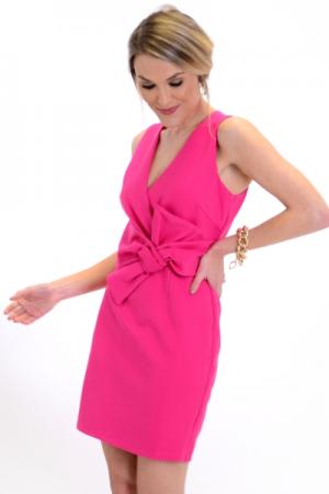 Bow Waist Dress, Berry
