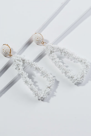 T. Jewels White Bead