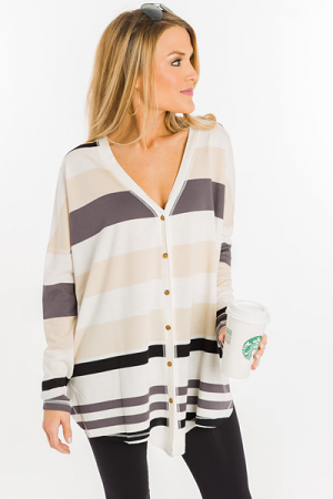 Natural Gal Stripe Top