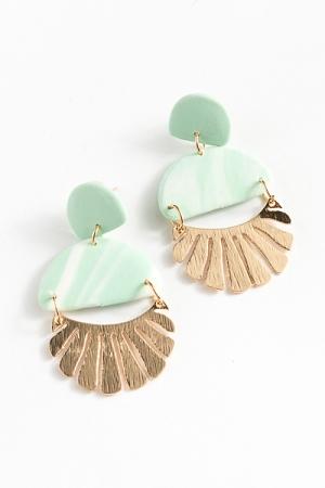 Clay Fun Earrings, Mint