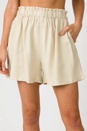 Kendra Solid Shorts, Taupe