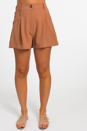 High Waist Shorts, Caramel