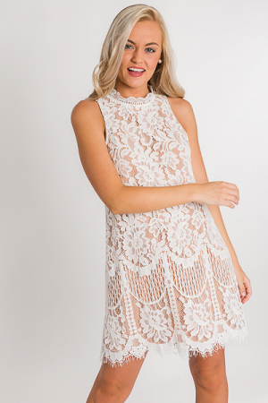 Ama Lace Dress, White