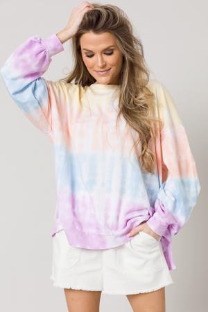 Multi Tie Dye Pullover