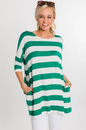 Silva Stripe Tunic, Green
