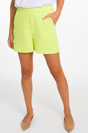 Lime Solid Shorts